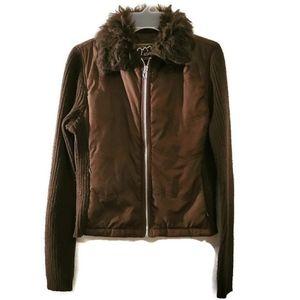 Ashley By 26 International Brown Sweater Jacket